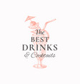 best drinks abstract sign symbol or logo vector image