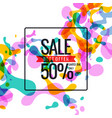 bright colored banner sale with colored splashes vector image vector image