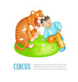 bright of circus performance vector image vector image