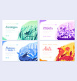 brochures with insects in the microcosm set of vector image vector image