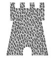 bulwark tower composition of dollar and dots vector image vector image