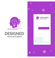 business logo for creative creativity head idea vector image