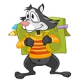 cartoon character raccoon vector image vector image
