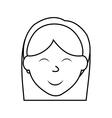 Cartoon woman icon Person design graphic vector image vector image