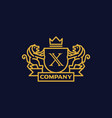 coat of arms letter x company vector image
