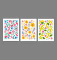 collection cards posters or vertical vector image