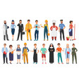 collection of men and women people workers vector image vector image