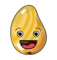 colored crayon silhouette of smiling cartoon mango vector image vector image