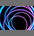 colorful neon glowing circles abstract background vector image vector image