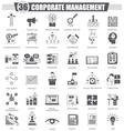 Corporate managment black icon set Dark vector image vector image