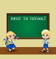 cute cartoon schoolgirl and schoolboy in uniform vector image vector image