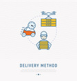delivery methods of pizza vector image