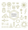 Design element set outline line art shapes vector image vector image
