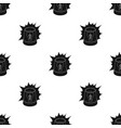 emergency rotating beacon light icon in black vector image