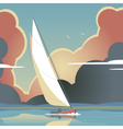 Evening sail vector image vector image