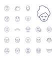 facial icons vector image vector image