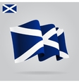 Flat and waving Scottish Flag vector image vector image