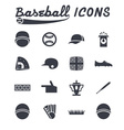 flat design icons baseball vector image