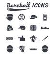 flat design icons of baseball vector image