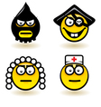 Four cartoon of abstract emotions vector image vector image