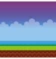 game landscape scene icon vector image