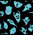 ghosts halloween pattern vector image