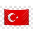 hanging flag turkey republic turkey vector image
