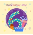 Happy birthday badge icon vector image vector image