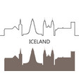 iceland vector image vector image