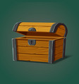 isolated opened pirate chest or crate trunk vector image vector image