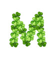 letter m clover ornament vector image