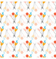 lovely childish seamless pattern with love balloon vector image vector image