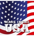 made in the usa design vector image vector image