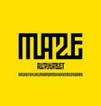 maze style font vector image