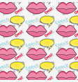 mouth with omg message and chat bubble background vector image
