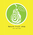 Nature fruit shop logo vector image vector image