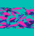 neon seamless camouflage pattern brush strokes vector image vector image