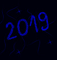 new year 2019 neon text vector image