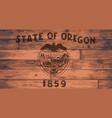 oregon state flag brand vector image vector image