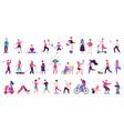 people outdoor activities active healthy vector image