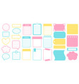planner stickers and frames set sticker vector image