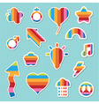 rainbow stickers vector image