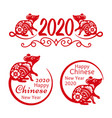 rat new year 2020 signs vector image vector image