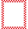 red checkered frame - design element for christmas vector image vector image