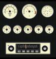 Retro car gauges vector image
