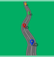 road and highway with markers for city map vector image vector image