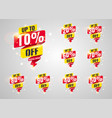 sale tags set badges template vector image