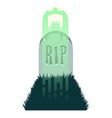 screaming ghost rising from grave vector image vector image