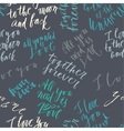 seamless lettering pattern vector image