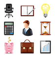 set business vector image vector image
